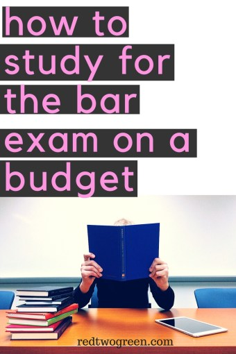 study for the bar exam on a budget