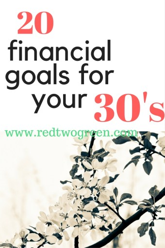 financial goals for your 30's