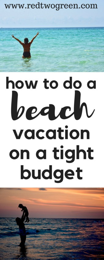 beach vacation on a budget
