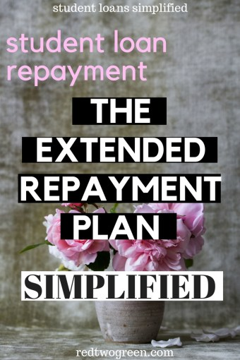 THE EXTENDED REPAYMENT PLAN
