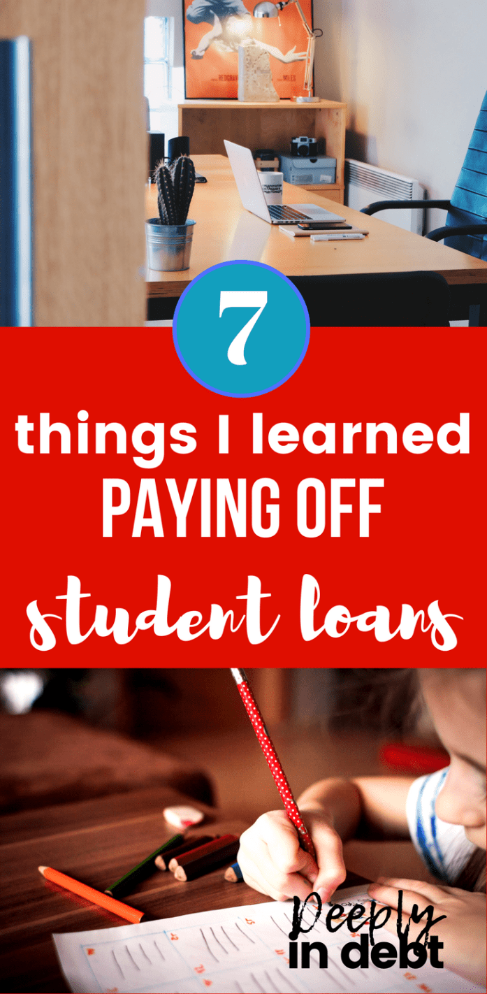 things i learned paying off student loans