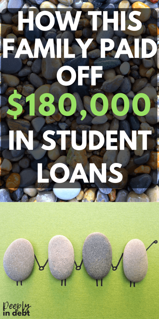 how this family paid off $180,000 in student loans