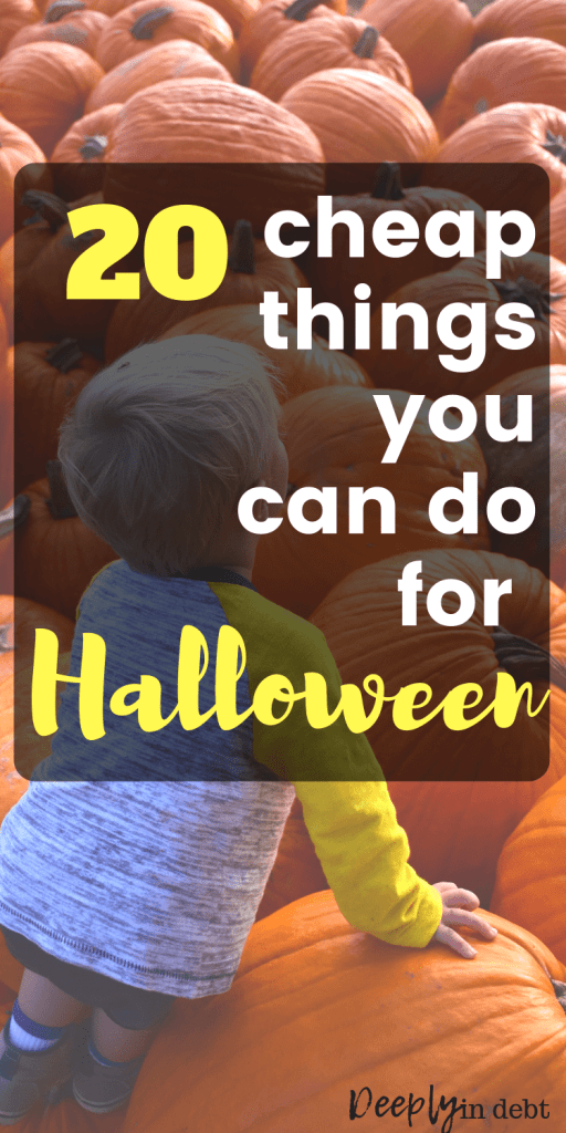 cheap things you can do for halloween