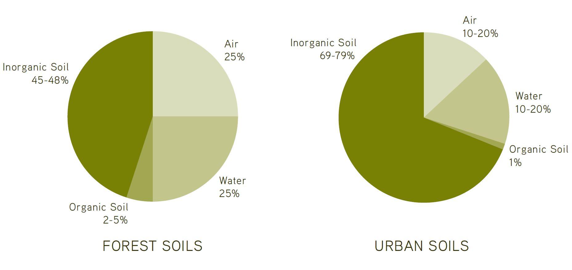 hight resolution of forest soil versus urban soil 2014