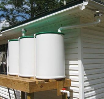 Ramblings About Rain-Barrels, connected rain barrels, drip irrigation system