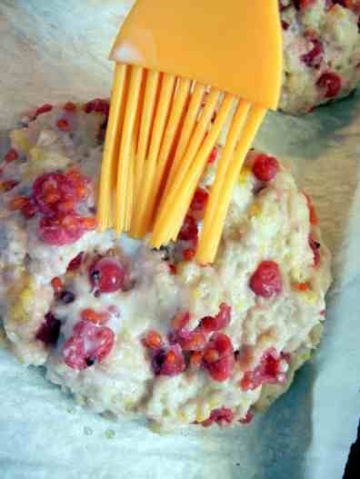 Authentic Scones Recipe: A Taste Of England, currant scones, plate of sweets, sweet treats, fresh baked, hot out of the oven, dessert scones, high tea, English tea, tutorial, baking, recipe, direction, instructions, ingredients, pastry brush, brushing on eggwash
