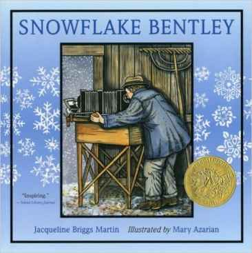 Winter's Hidden Beauty~ The Snowflake, Snowflake Bentley, first snowflake photos, ice crystals, photography, early camera,, wilson Bentley, children's book, caldecott award winner