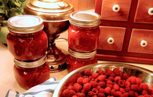 Ode To Summer, A Visual Journal, red raspberry jam, Pamona pectin, sweetened with honey