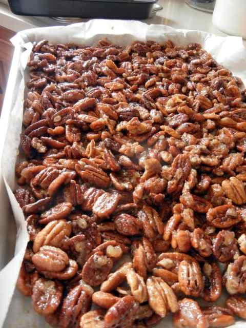 Aunt Tammy's Homemade Sugared Pecans, gift, recipe, directions, tutorial, ingredients, family, story time, tickle fights, Christmas, sweet treat, candy, finder food, dessert, snack, roasted pecans, butter, egg whites, spices, parchment paper, homemaking, candied