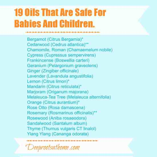 19 Known Safe Essential Oils For Children & Babies, teething, diaper rash, fevers, stomach ache, coughs, colds and flu, thrush, colic, sleeplessness, diarrhea, crying, carrier oils, coconut oil, sweet almond oil, Frankincense, Geranium, Sandalwood, Mandarin, Grapefruit, Ylang Ylang, The Complete Book of Essential Oils and Aromatherapy, Mountain Rose Herbs, aromatherapy, EOs, carrier oils, coconut oil, dilutions, research, books, Valerie Ann Worwood, colic, sleeplessness, massage therapy, healing touch, earaches, teething, ylang-ylang, geranium rose, minor burns, fever, headache, colds and flu,