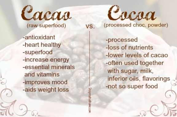 Cacao vs. Cocoa: What's The Difference?, health benefits of cocoa vs. cacao, raw superfood