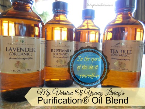 My Version Of Purification® Essential Oil Blend, Fresh and Clean, aromatherapy, drug resistance, DIY, Mountain Rose Herbs, storing EOs, blend, anti-parasitic, fungicidal, bird flu, epidemic, cold and flu season, sickroom, deodorant, insecticide, deters pests, recipe, nebulizer, topical, analgesic, antibacterial, anti-inflammatory, antimicrobial, antiseptic, antispasmodic, aromatic, deodorant, diuretic, insecticide, sedative, stimulant, eucalyptus, healthy living, natural medicine chest, tea tree, lemon, lemongrass, lavender, rosemary, TheraPro premium diffuser, disinfectant spray, homemade cleaners, Thieve's, antiviral, antifungal,