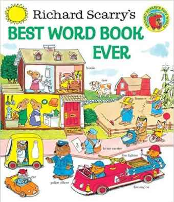 Richard Scarry: Scariest Children's Books Ever, scariest books, Christmas,Best Word Book Ever, the best, delightful, innocent, treasure, young children, book, out of print, illustrated, artist, author, pouring over books, colorful, details, concepts, early childhood, words, Busytown,Huckle Cat, Lowly Worm, Mr. Frumble, police Sergeant Murphy, Mr. Fixit, Bananas Gorilla, Hilda Hippo, grandchildren, well-loved, memory box, TV, videos, entertain, educate, learn to read,Cars and Trucks and Things That Go, parents, vocabulary, toddler, library, characters, fledgling talker, investment, nostalgia, Amazon review, Officer Flossie, fun, imagination, words, collection, printing, pages, book binding, used copy, hardback,politically correct, hardback, paperback,colors, shapes, sizes, good manners, counting, the alphabet, months of the year, scenes, water craft, market, cut-away house, trucks, cars, boats, airplanes, ships, helicopters, seasonal drawings, machinery, farm, early reading list,Hop Aboard! Here We Go!, engines, motors,What Do People Do All Day?, lucky chance, abridged, copy, 50th anniversary release, full length, stories, families, read aloud,Busy, Busy World, favorite book, collector's prices, publisher, hometown, professions, careers,bankers, doctors, sanitation workers, clerks, policemen, pilots, various vendors, lumber workers,birthday present, family heirloom