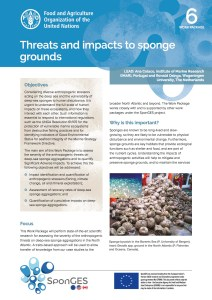 FAO, Factsheet, WP6, SponGES