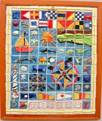 Nautical ceramic tile mural: collaborative art project for ...