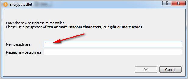 set any passphrase