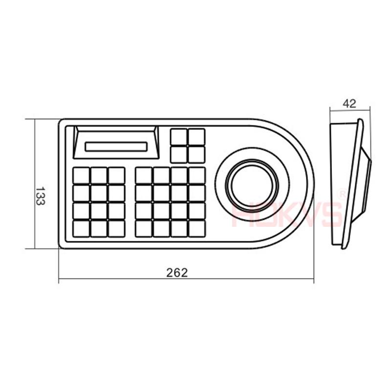 3D CCTV keyboard Controller Joystick for RS485 PTZ camera