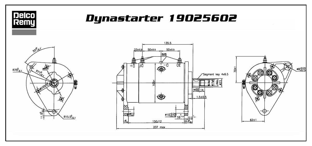 DRE19025602 DYNASTART DELCO-REMY Deer-online.com