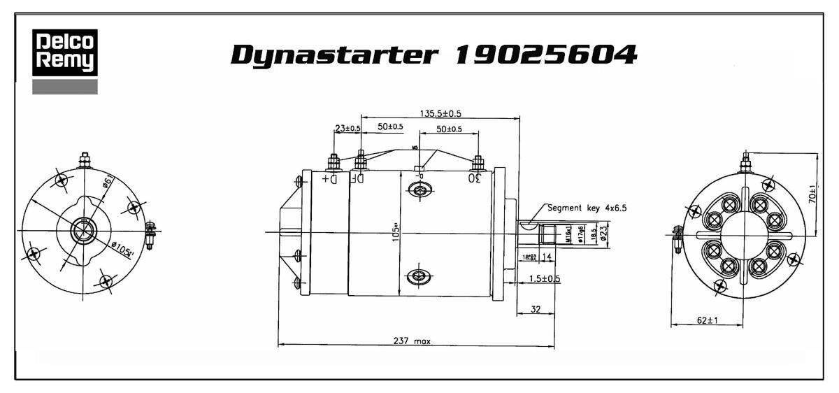 DYNASTART REMY 19025604