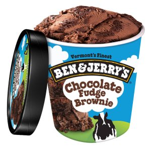 BEN & JERRY'S CHOCOLATE FUDGE BROWNIE ICE CREAM, 16OZ