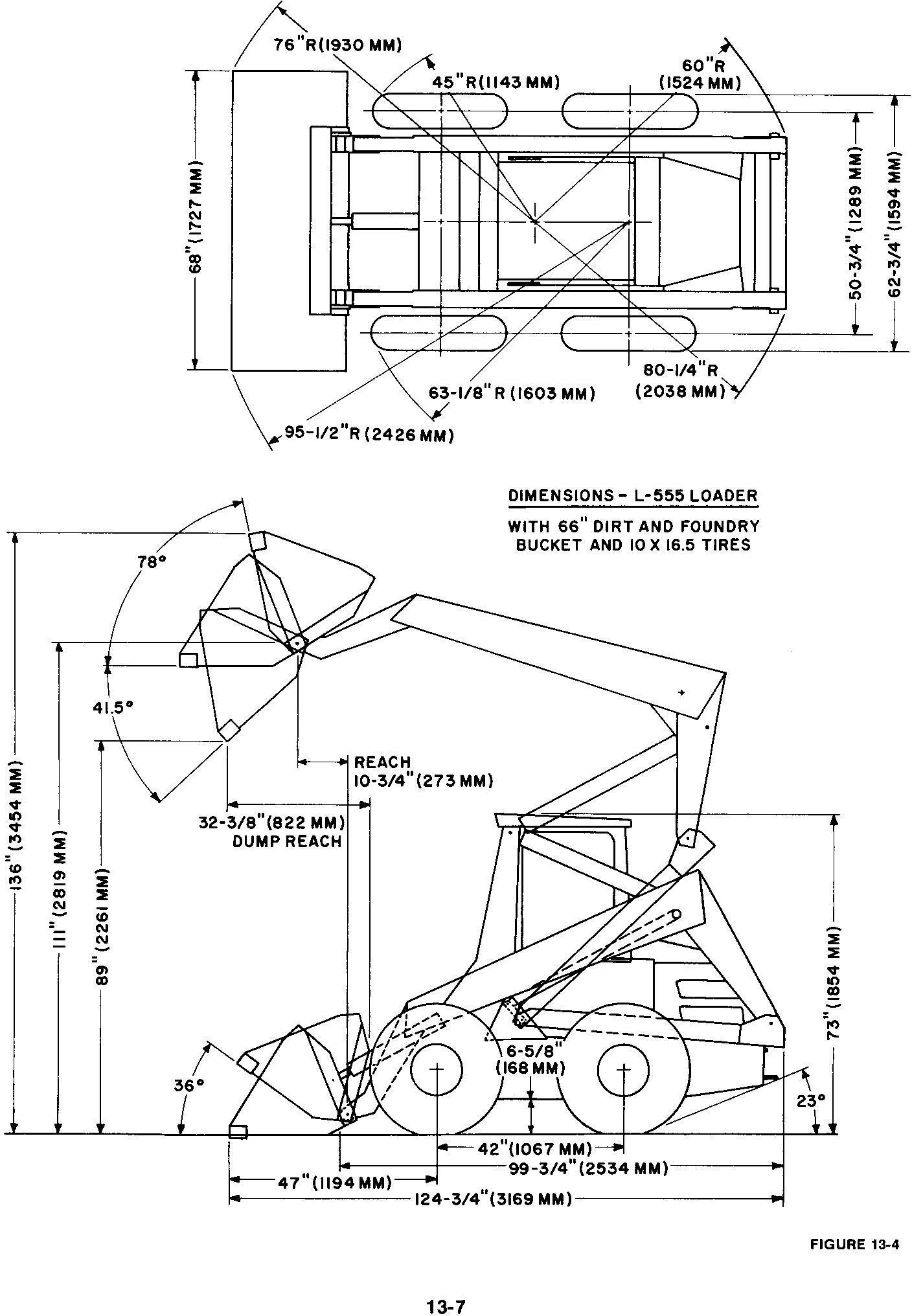 New Holland L553, L554, L555, L565 Deluxe Skid Steer