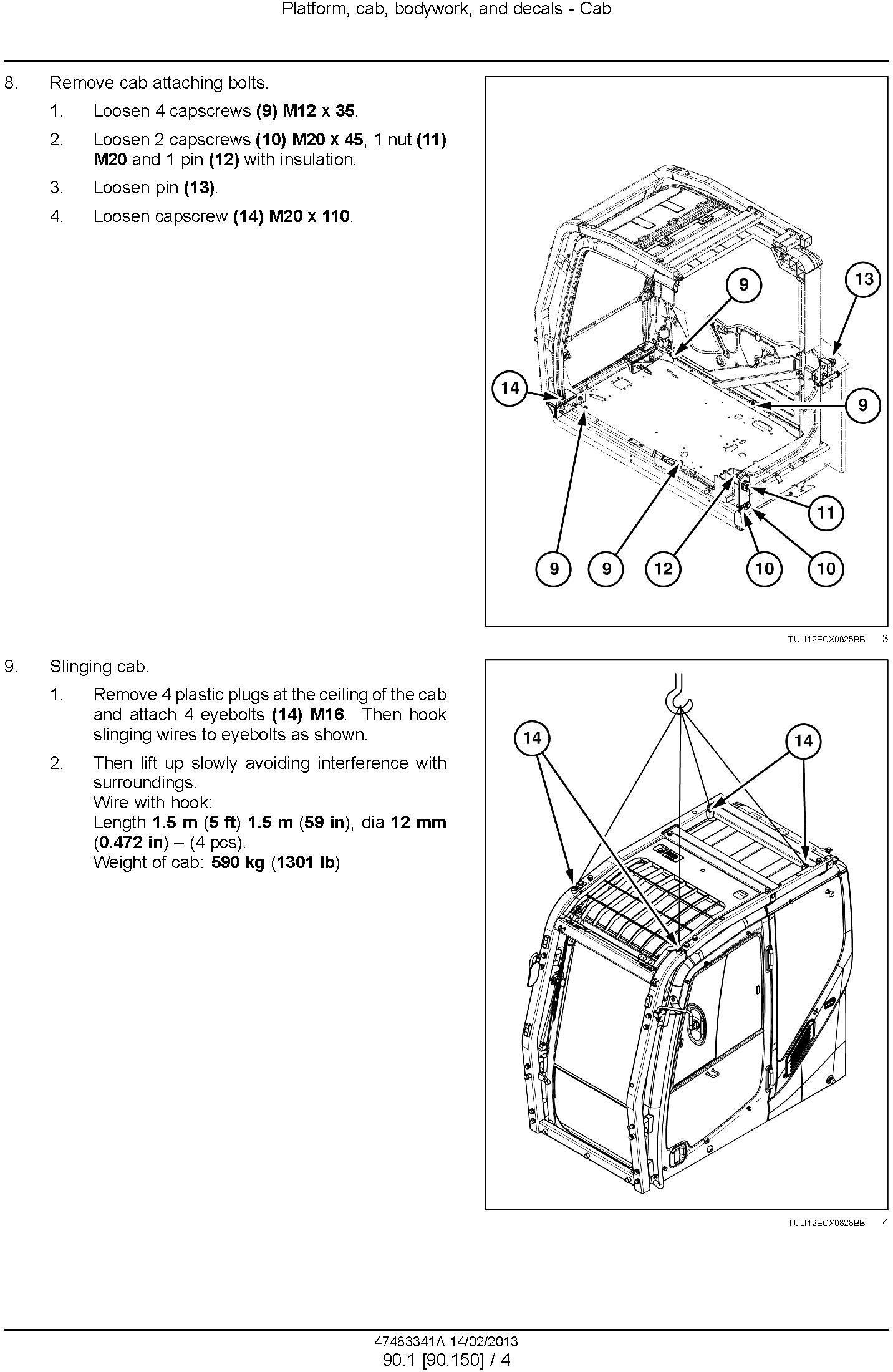 New Holland E485C Crawler Excavator Service Manual / Deere
