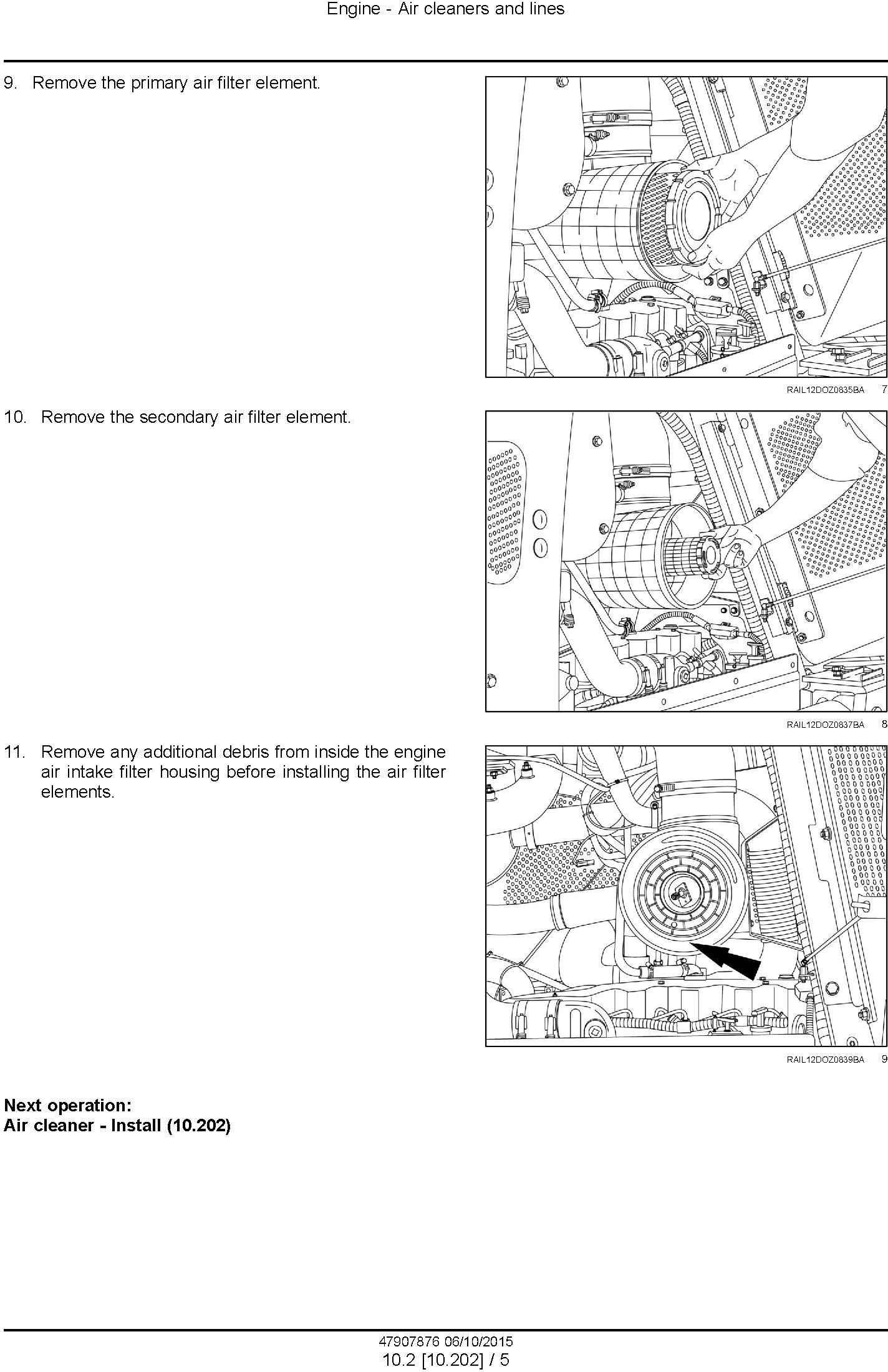 New Holland D150C Stage IIIB Crawler dozer Service Manual
