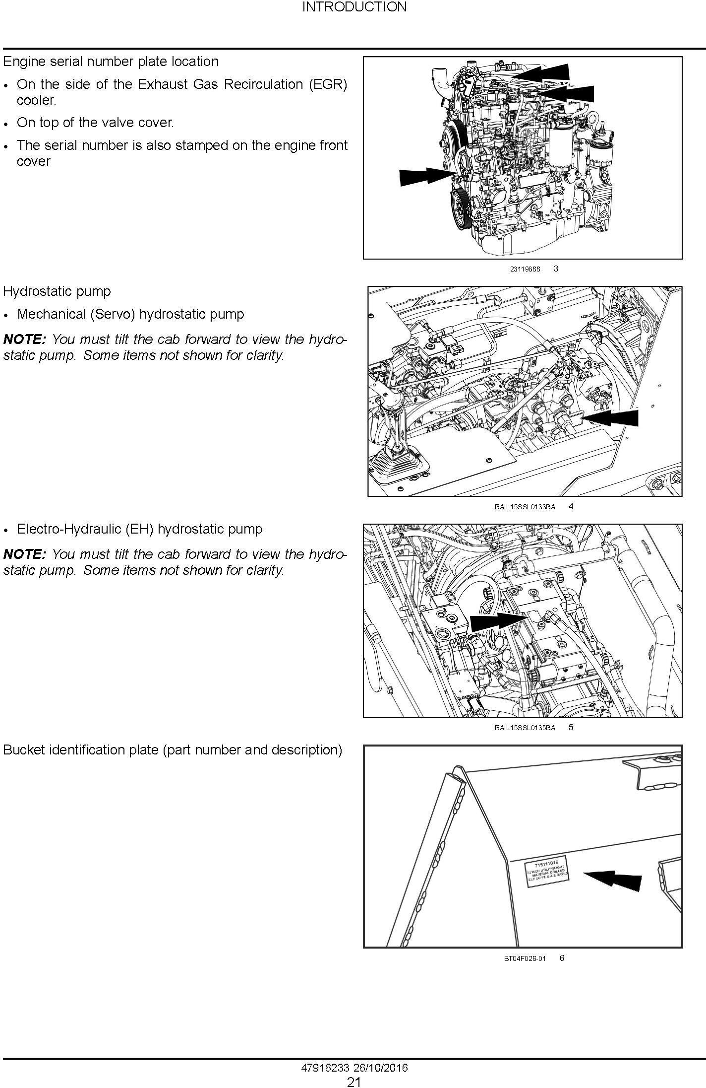 New Holland L234 Skid Steer Loader C238 Compact Track