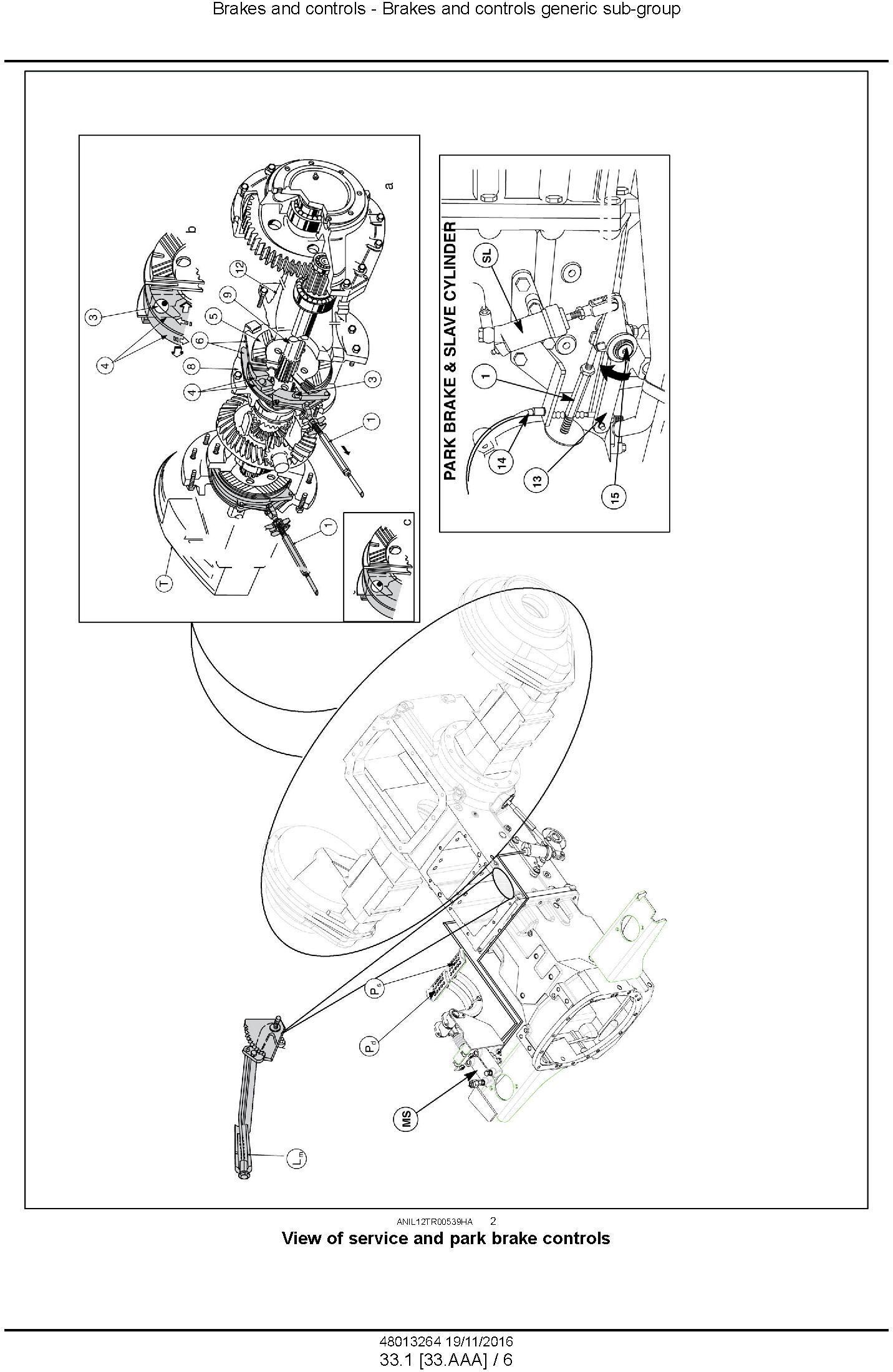 New Holland TD95D HC Tractor Service Manual / Deere