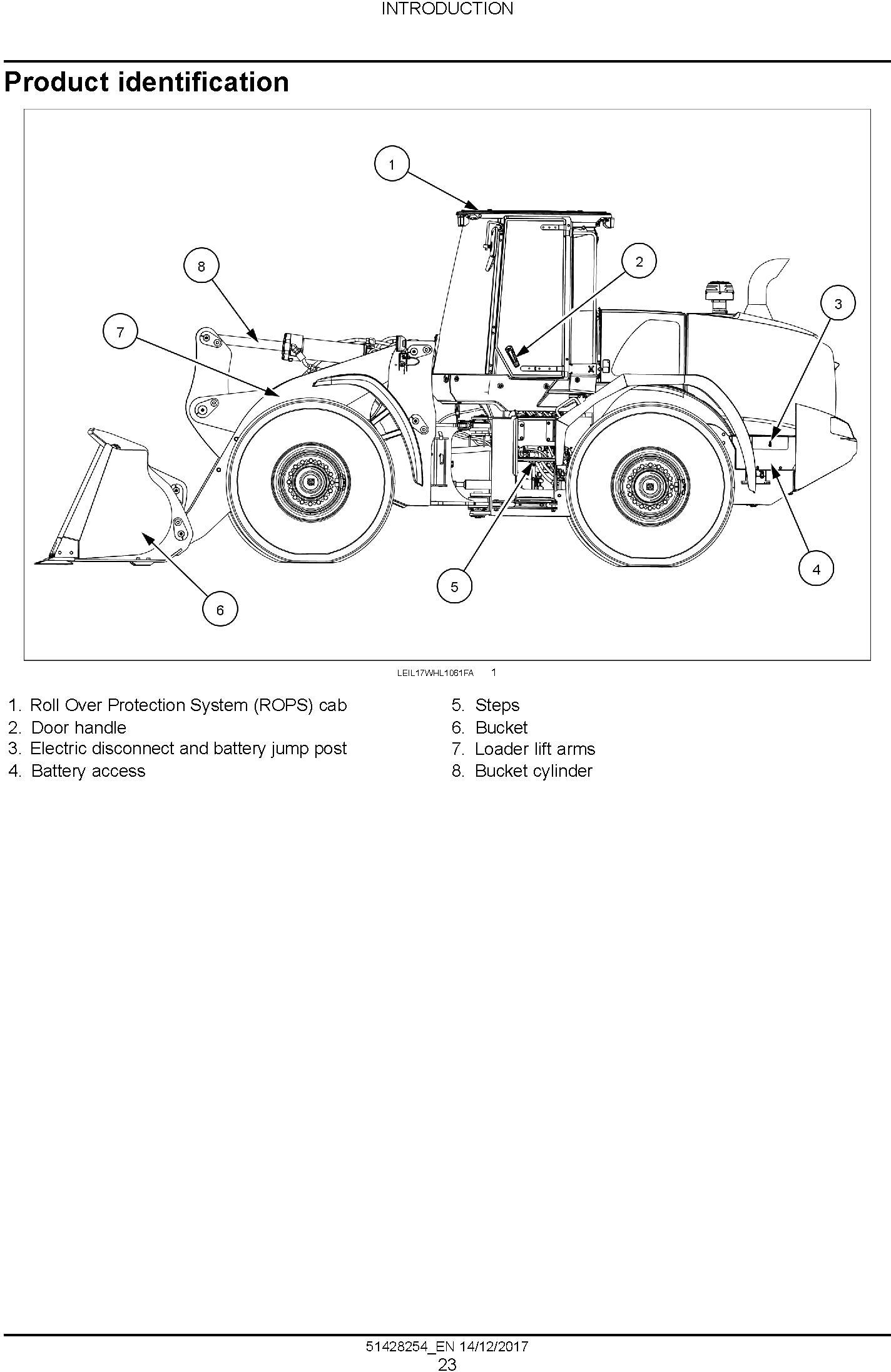 New Holland W190D Stage IV Wheel Loader Service Manual
