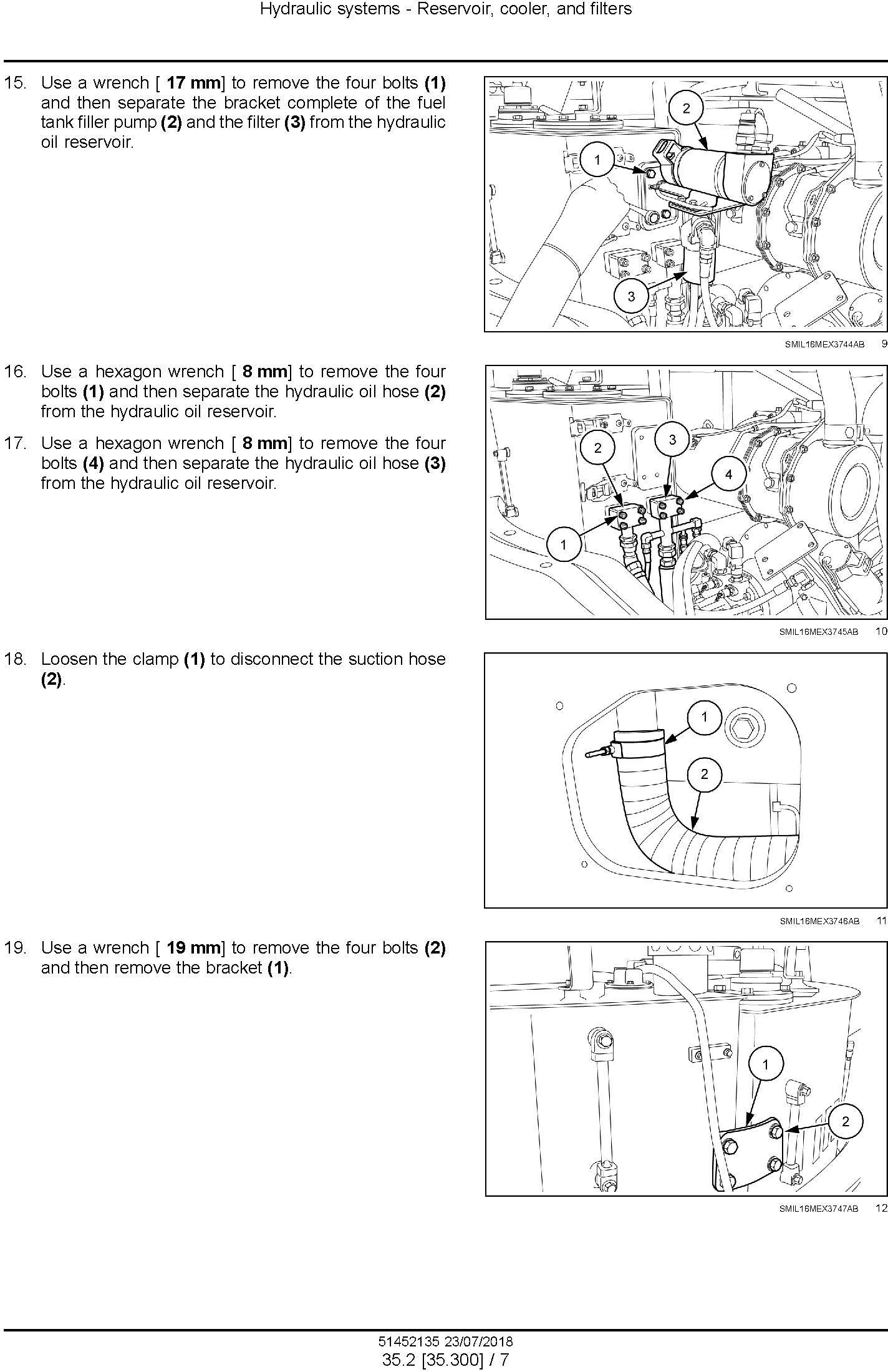 New Holland E60c Mini Excavator Service Manual Usa