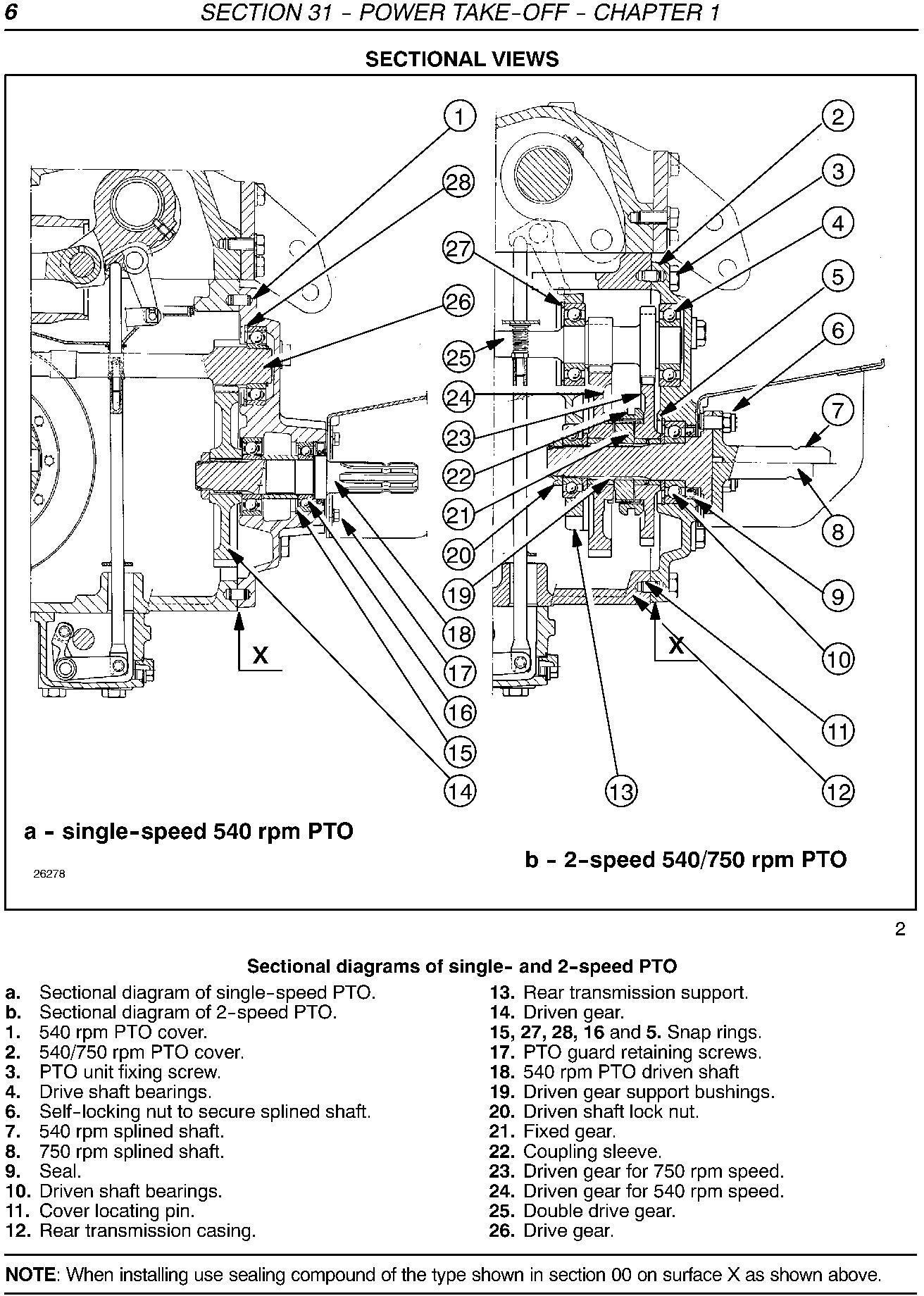 New Holland TD5030, TD5040, TD5050 Tractors Service Manual