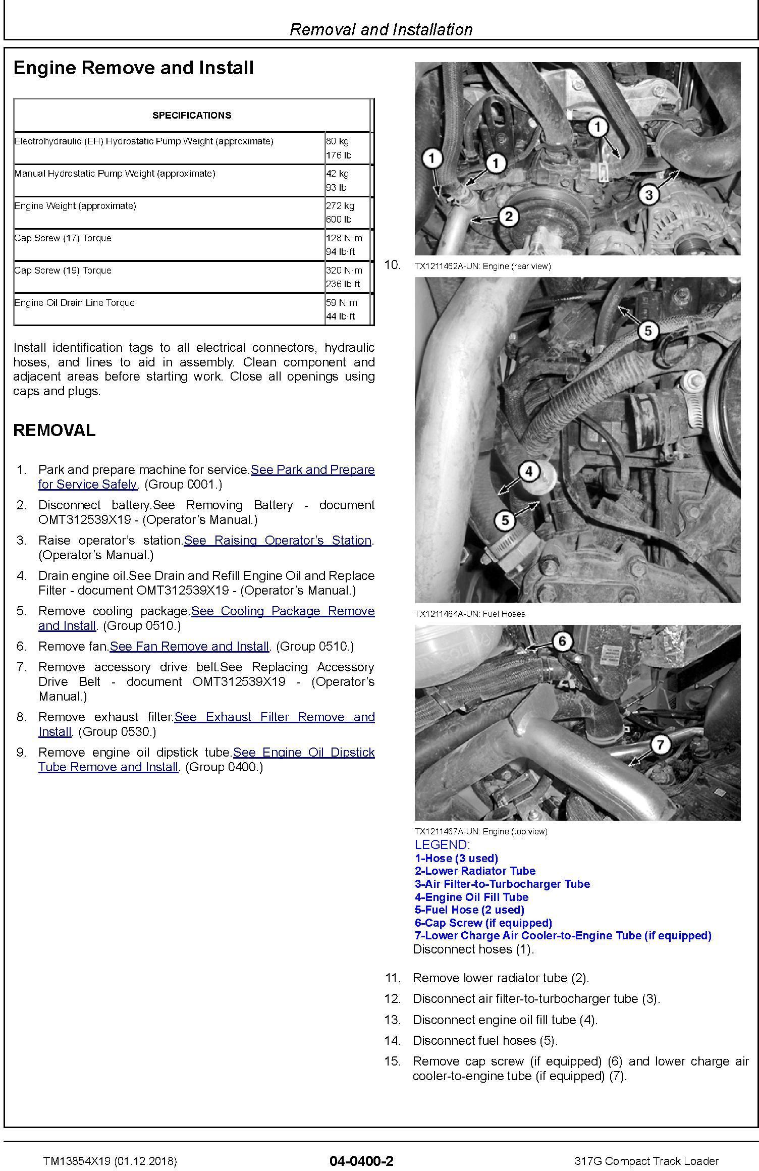John Deere 317G Compact Track Loader Service Repair Manual