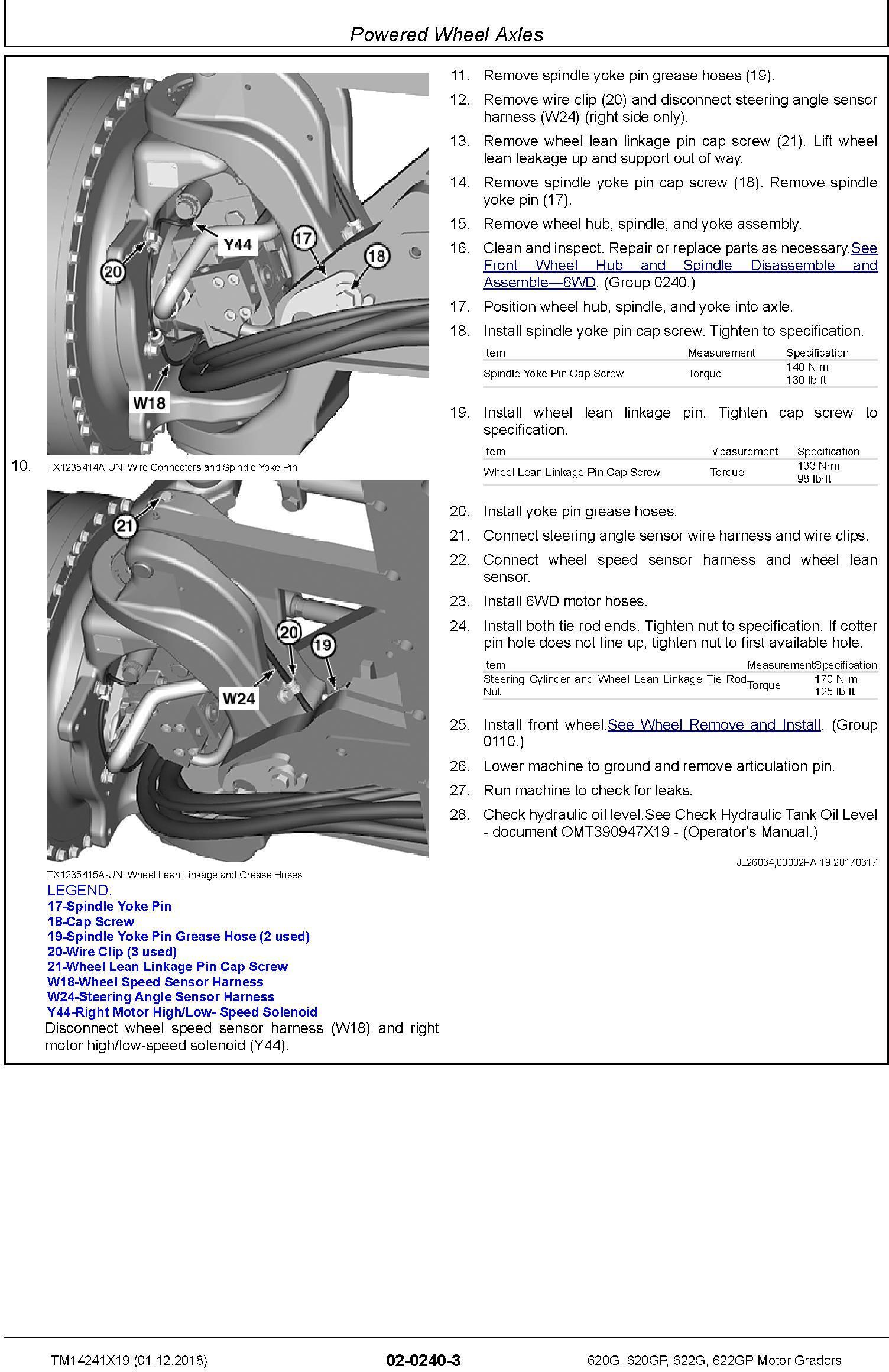 John Deere 620G, 620GP, 622G, 622GP (SN.F680878-,L700954