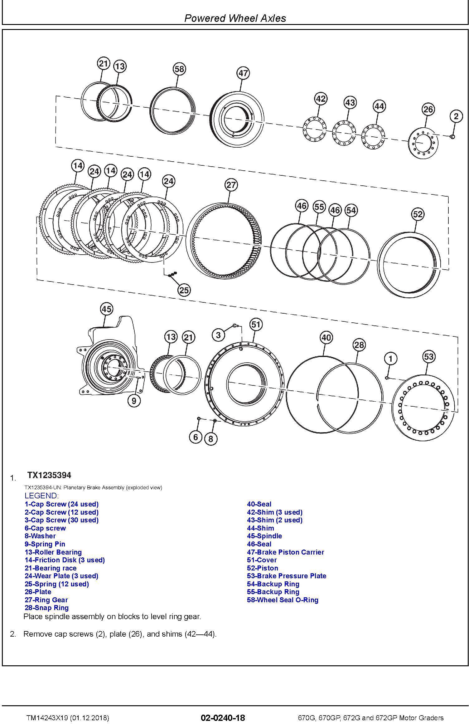 John Deere 670G, 670GP, 672G, 672GP (SN.F680878-, L700954