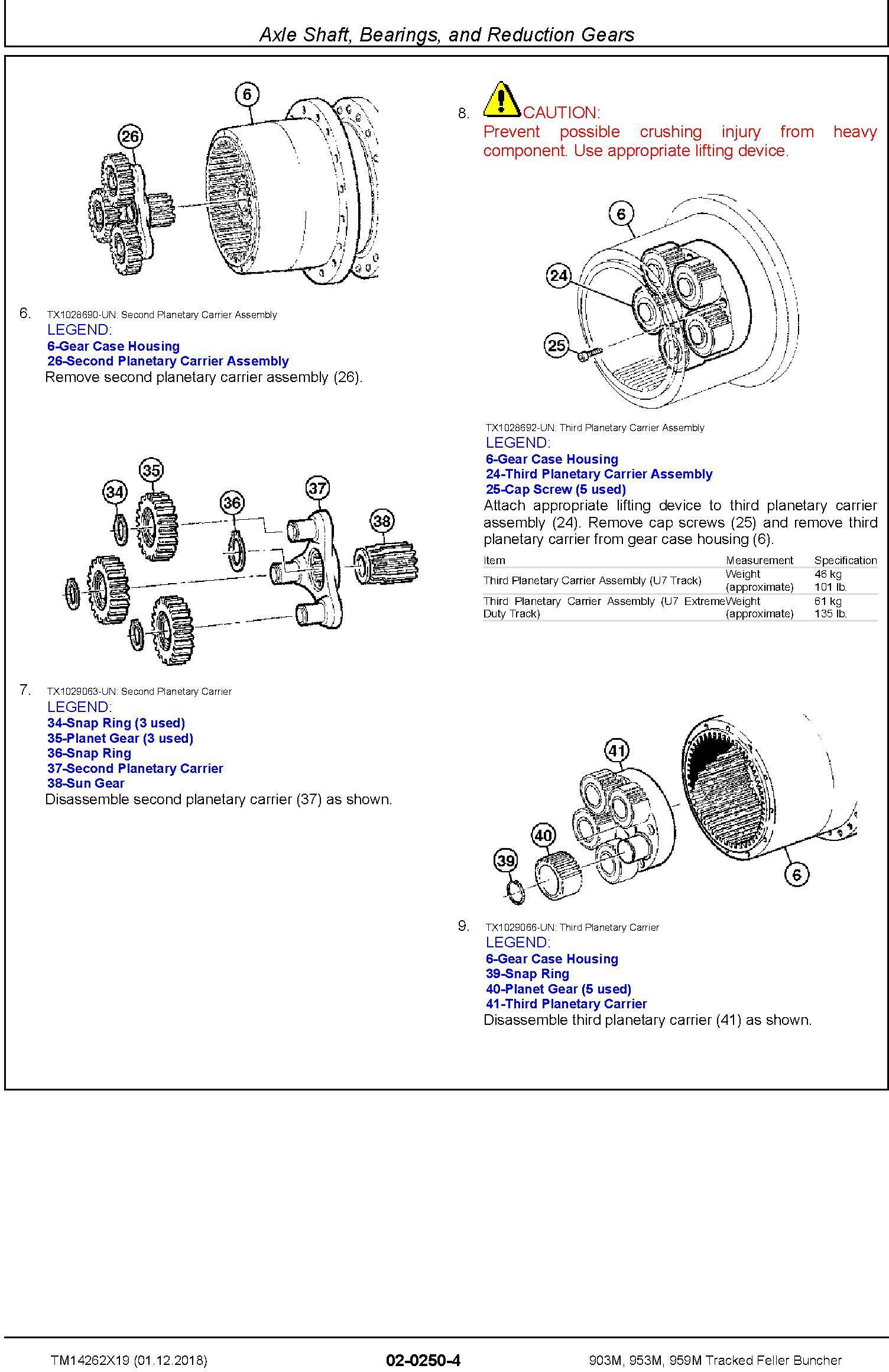 John Deere 903M, 953M, 959M (SN.F317982-,L317982-) Tracked