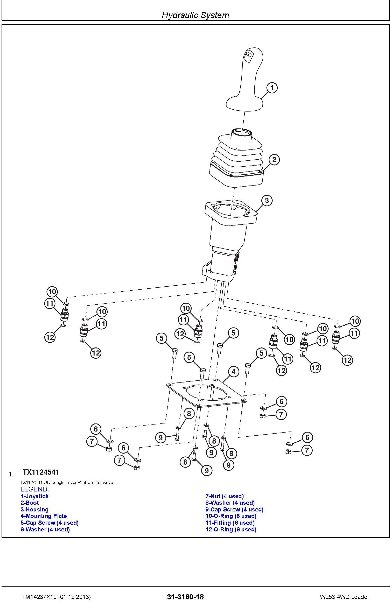 John Deere WL53 (SN. D000001-) 4WD Loader Repair Service