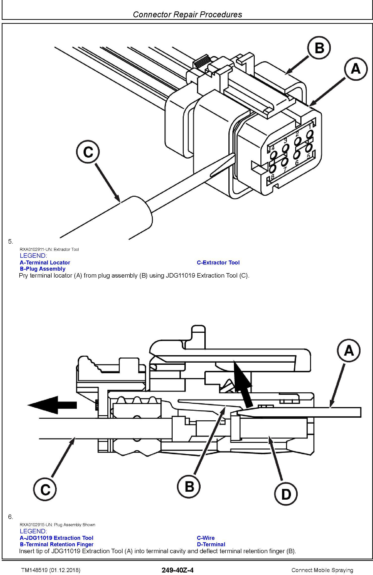 John Deere Connect Mobile Spraying Repair Technical