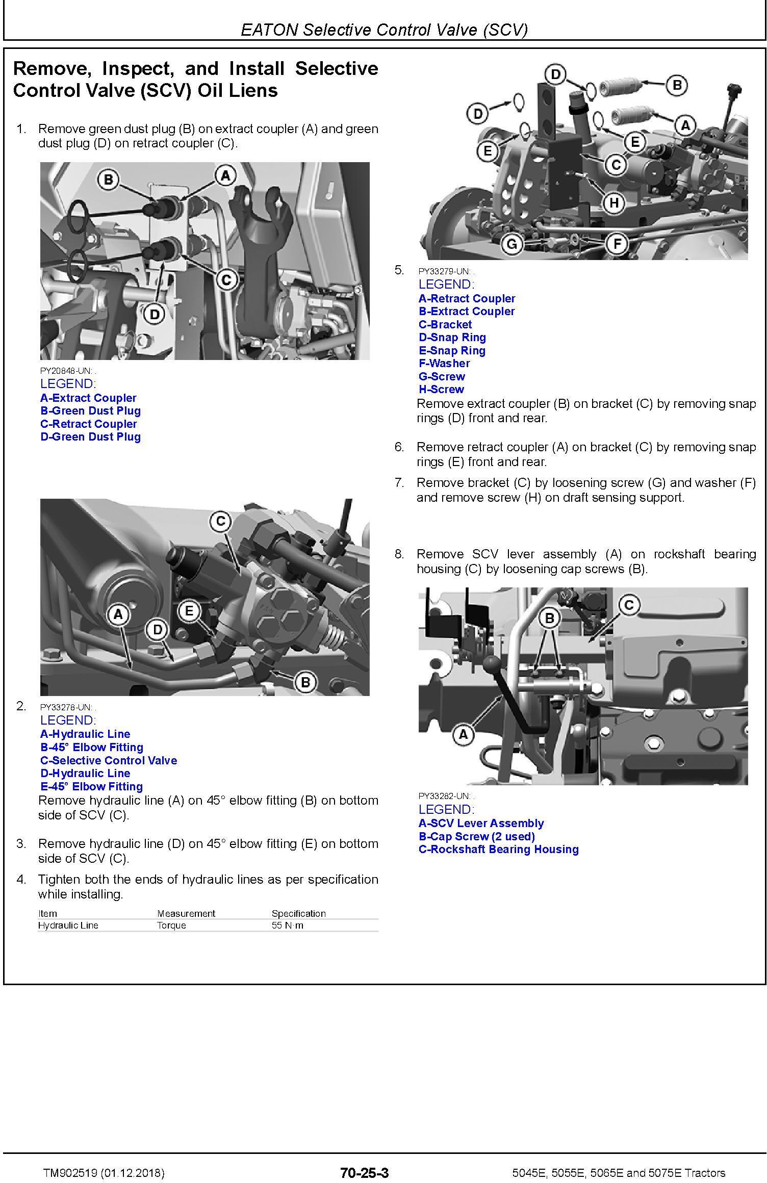 John Deere 5045E, 5055E, 5065E, 5075E Tractors (SN.103101