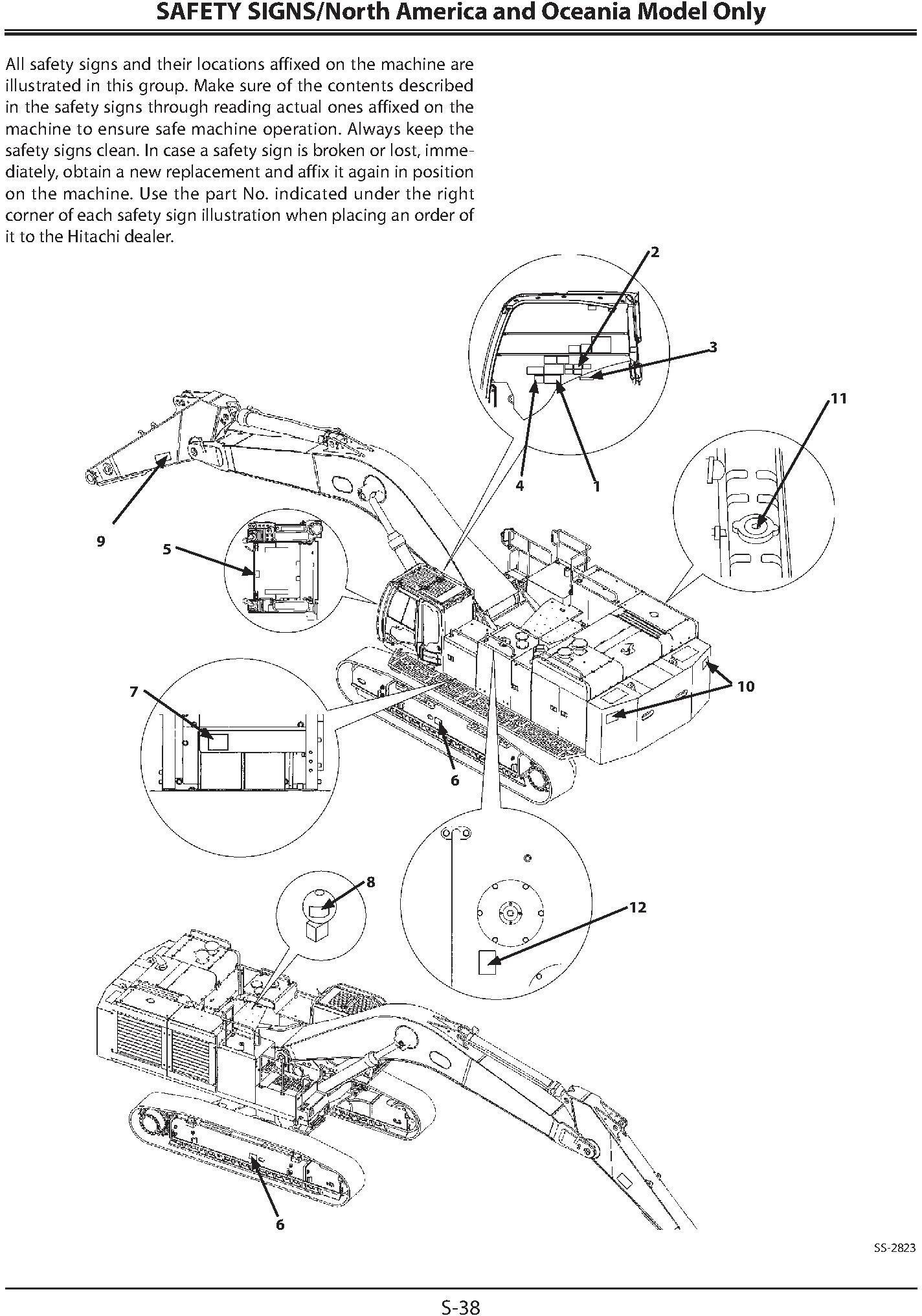 Hitachi Zaxis 850-3, 850LC-3, 870H-3, 870LCH-3 Excavator