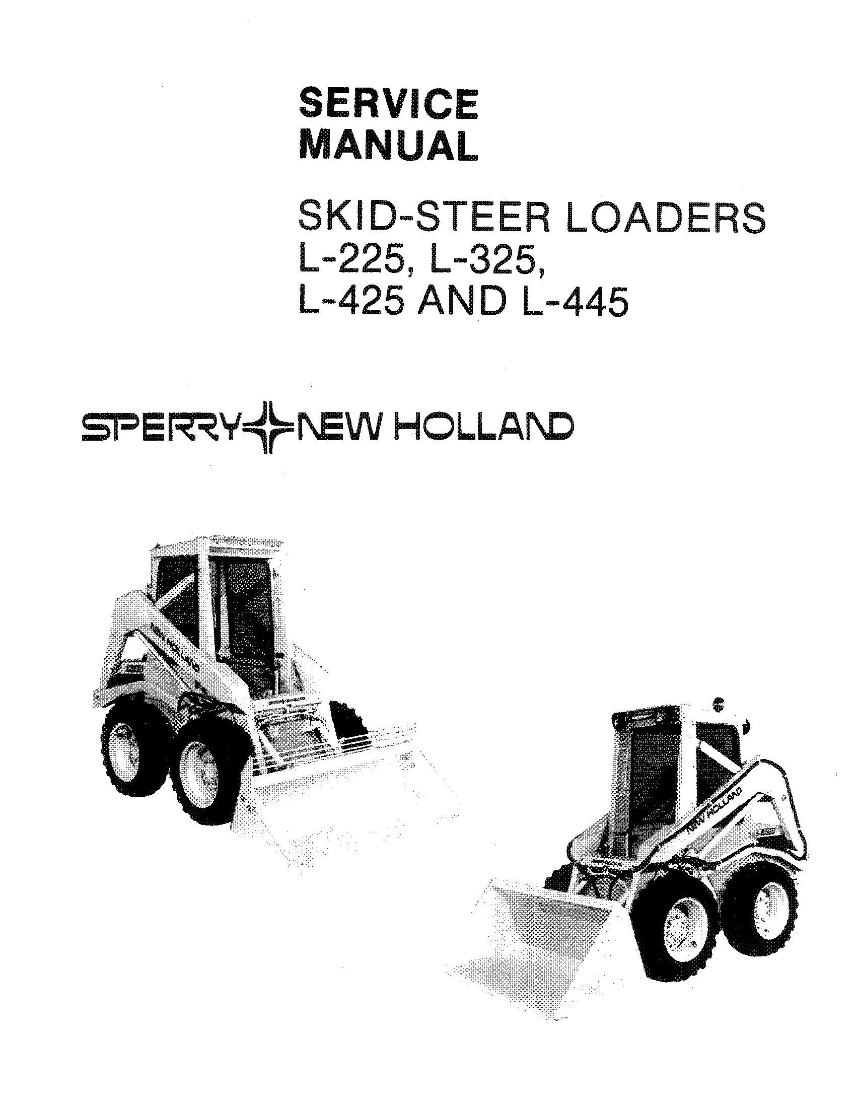 New Holland L225, L325, L425, L445 Skid Steer Loader