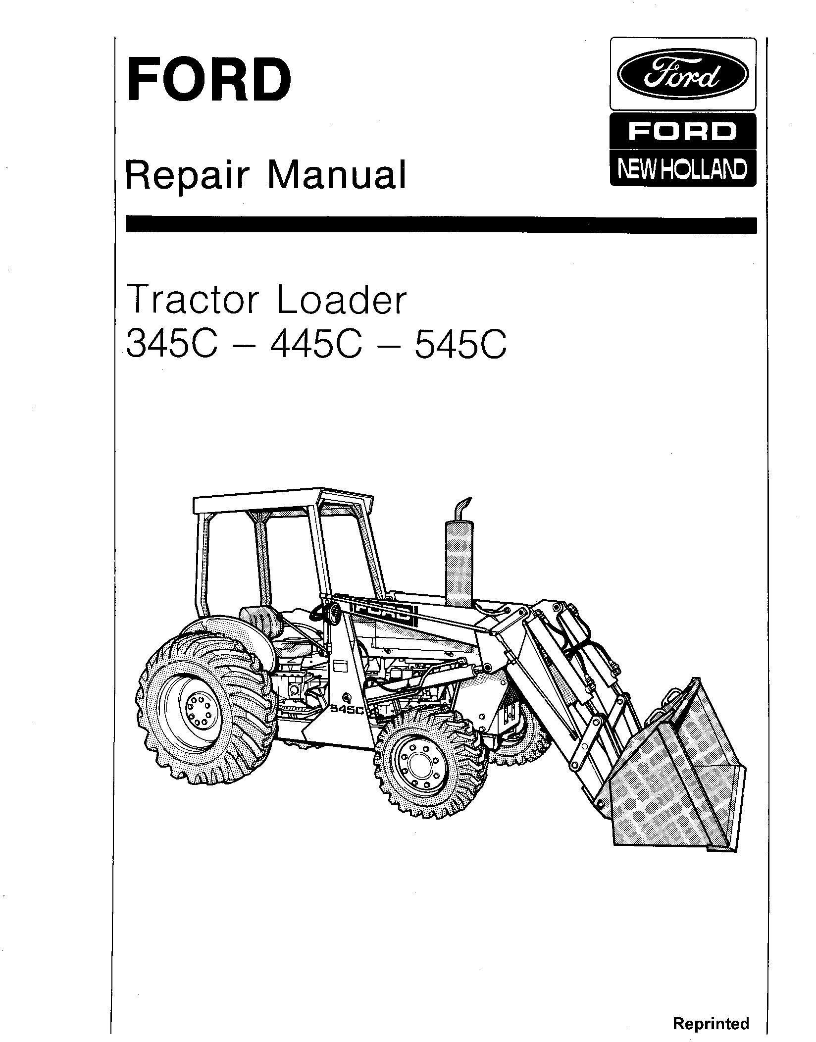 Ford 345C, 445C, 545C Tractor Loader Service Repair Manual