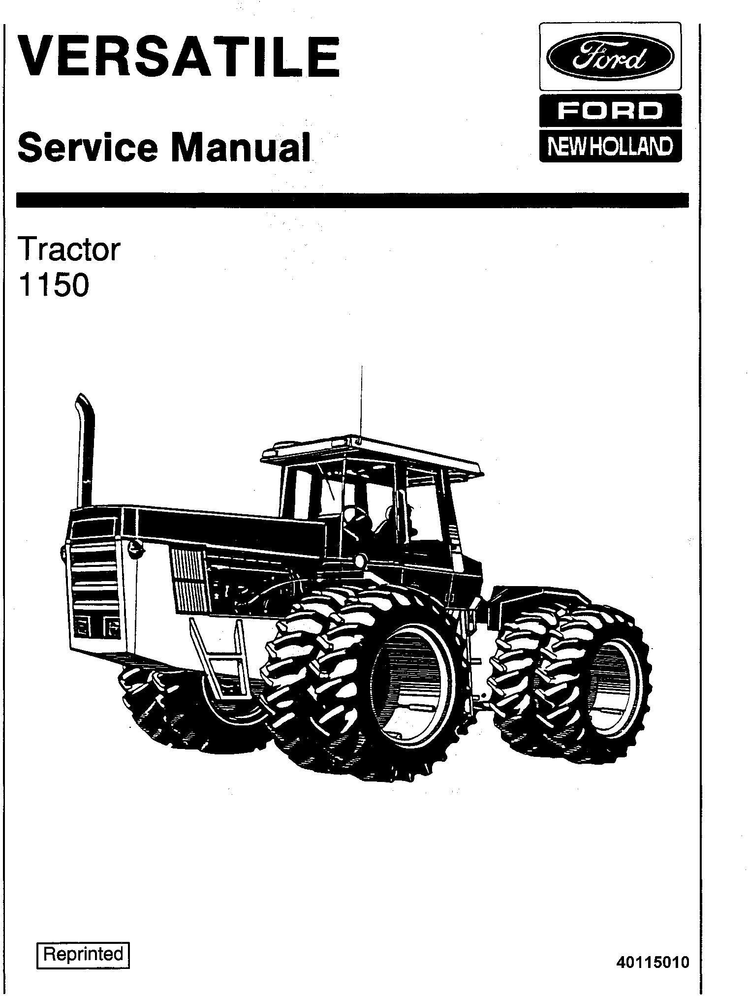 Ford 1150 4WD Tractor Service Manual (V74801) / Deere