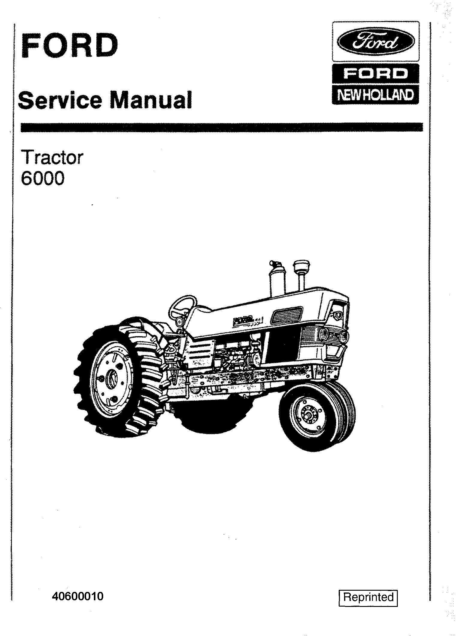 Ford 6000 Tractor Workshop Service Manual (SE8799) / Deere