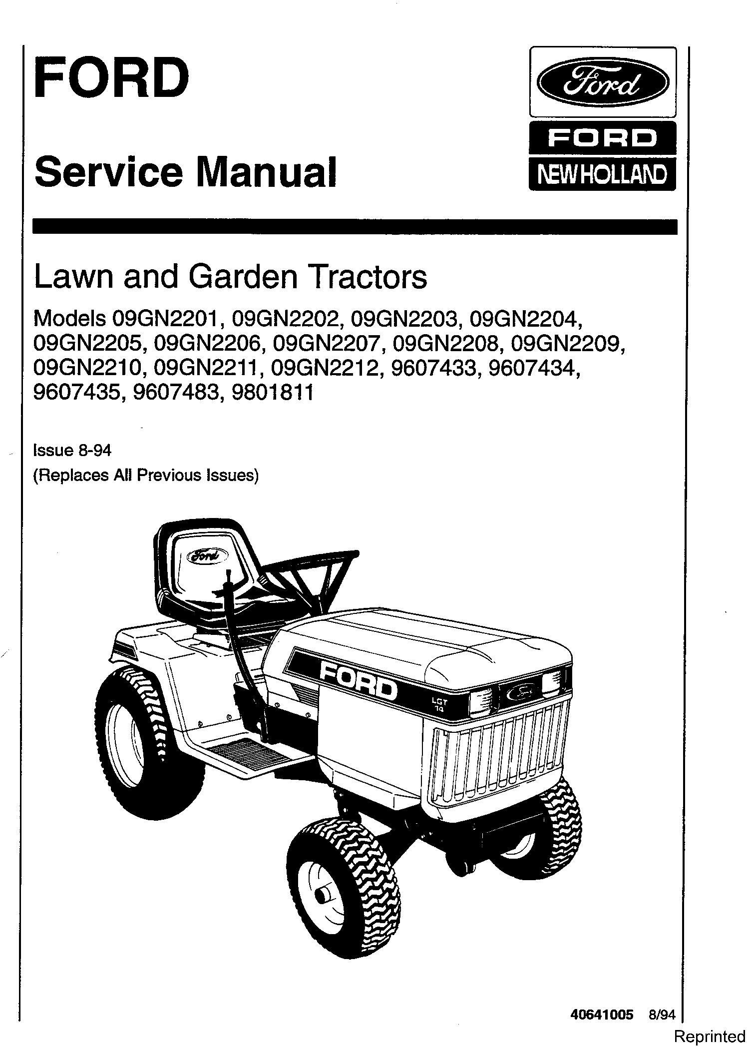 Ford LGT12 (H), LGT14 (H), LGT17 (H), LGT18H Lawn & Garden