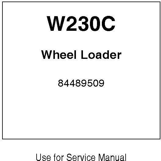 New Holland W230C Wheel Loaders (Emerging market) Service