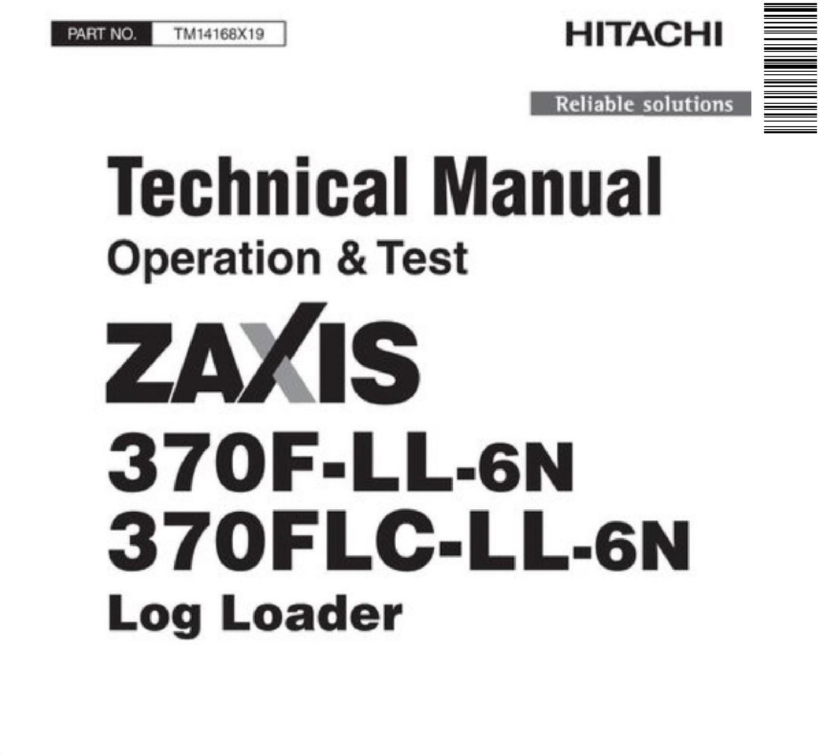 Hitachi Zaxis 370F-LL-6N, 370FLC-LL-6N Log Loader