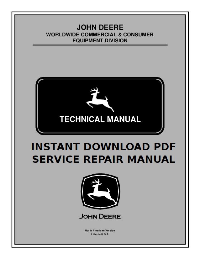 John Deere TRS24 Walk Behind Snow Blower Service Manual