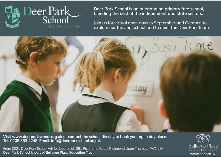 See our online advert in Families Upon Thames