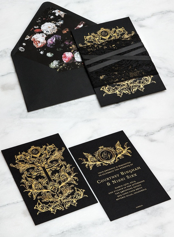 Gold Wedding Invitation Kit PaperInvite